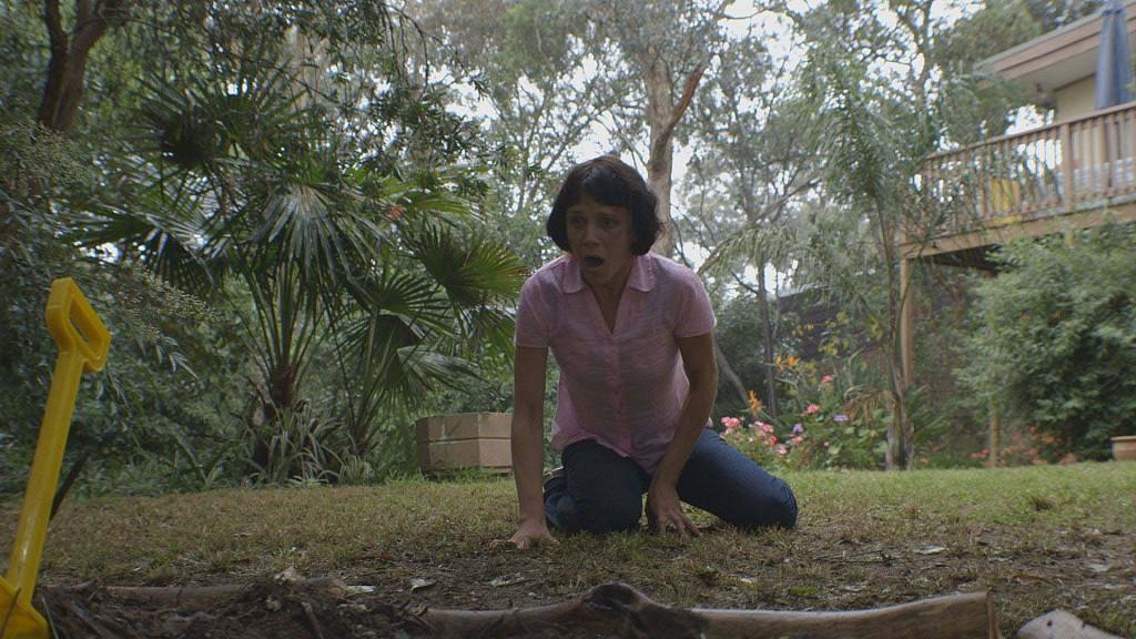 Michelle in garden